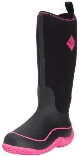The Original Muck Boot Company Hale Multi-Season Boots for Ladies - Black/Pink - 6 M, Women's