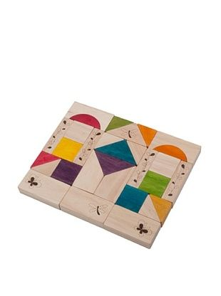 33% OFF Wonderworld Natural Wooden Block Set