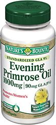 This is part of my everyday vitamin regime. Every woman should be taking Evening Primrose Oil. Great Anti-Aging supplement. Can also improve skin tightening and prevention of wrinkles. Helps with hormonal acne, PMS, weight control, chronic headaches, menopause, endometriosis, joint pain, diabetic nerve pain, eczema, MS, infertility, hair, nails, and scalp.Take 1, three times a day w/ a meal. Evening Primrose Oil 1000mg 60 Softgels | Natures Bounty - Be Your Healthy Best
