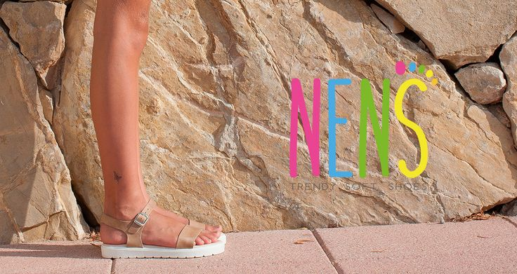 NENS SS17 Comfy girls summer sandals in NUDE leather