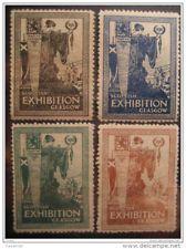 GB uk scottish exhibition glasgow 1911 scotland lion 4 poster stamp label vignet