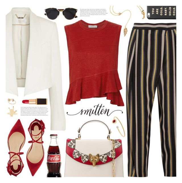 """""""smitten (TOP SET 25th MAY)"""" by valentino-lover ❤ liked on Polyvore featuring Chloé, Gucci, Christian Louboutin, Tom Ford, Michael Kors, A.L.C., Delfina Delettrez, Christian Dior and ban.do"""