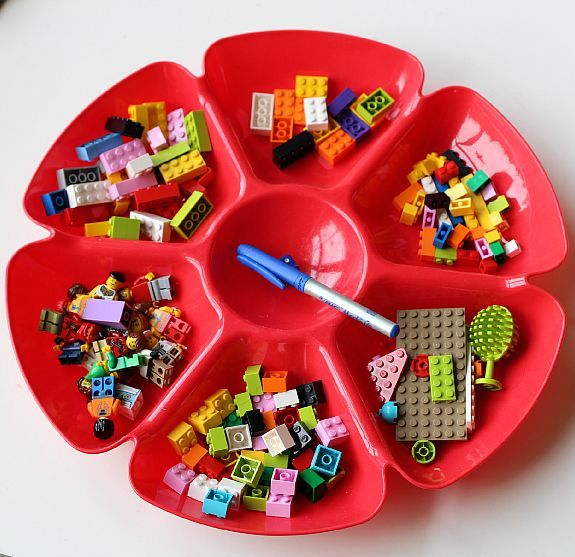 Great LEGO game for kids. Promotes fine motor development but more importantly, it's a fun activity for a rainy day!