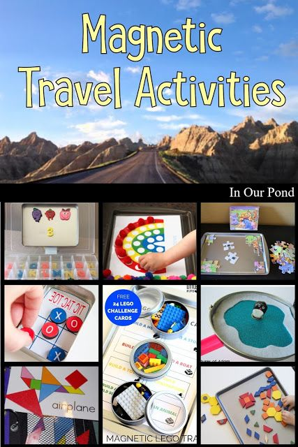 DIY Magnetic Activities for Travel - In Our Pond