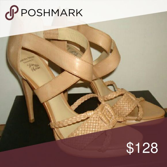 ALEXANDRE BIRMAN Salto Meia Pata Shoes ALEXANDRE BIRMAN  Salto Meia Pata Woven Leather Heels  RETAILED $580 - SAKS FIFTH AVENUE EXCLUSIVE Shoes Heels