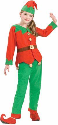 Kids Elf Costume Christmas Costumes