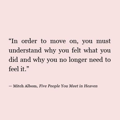 in order to move on                                                                                                                                                                                 More