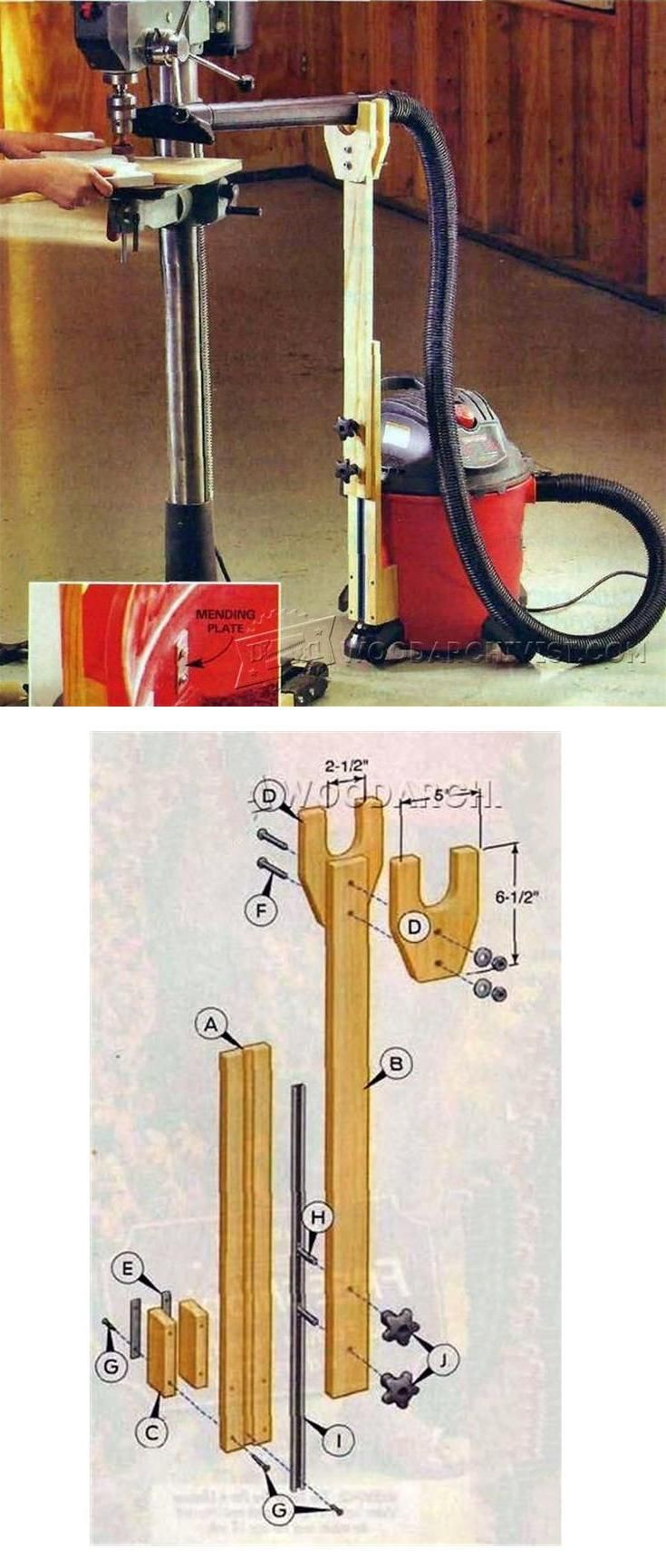 DIY Adjustable Dust Control - Dust Collection Tips, Jigs and Fixtures   WoodArchivist.com