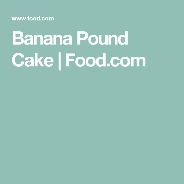 Banana Pound Cake | Food.com