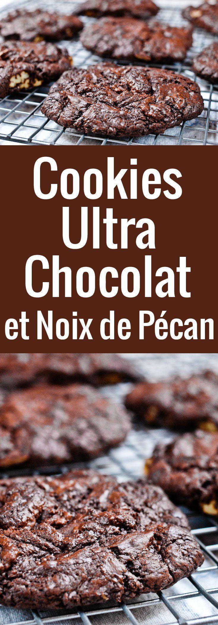 Une recette de cookies ultra chocolat à réserver aux chocophiles sérieux ! La vraie recette américaine des mudslide cookies aux noix de pécan.