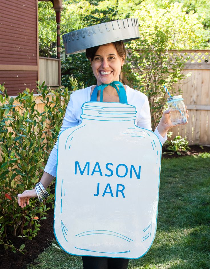 mason jar halloween costume easy diy halloween costume idea for adults - Cheap Home Made Halloween Costumes