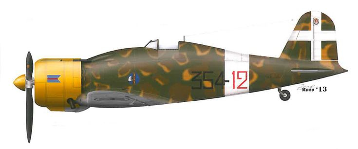 Fiat G50 Freccia RA 24 Gruppo 354 Squadriglia 354 12 Italy 1940 0A