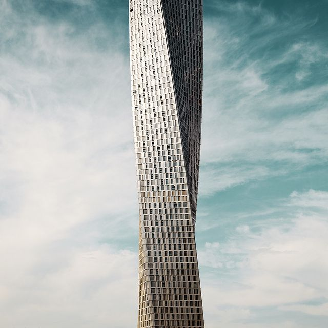 Infinity Tower, United Arab Emirates by Heartbeatbox: Construction of the 306 m (1,004 ft) building began in February 2006 and when completed it will have 76 stories and be the world's tallest high rise building with a twist of 90˚. http://en.wikipedia.org/wiki/Infinity_Tow#Architecture #Infinity_Building #United_Arab_Emirates