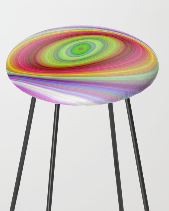 rainbow dream bar stool rainbow dream fantasy stool barstool home decor stools Happy Winter Eye Counter Stool by David Zydd #happy #eye #winter #ellipse