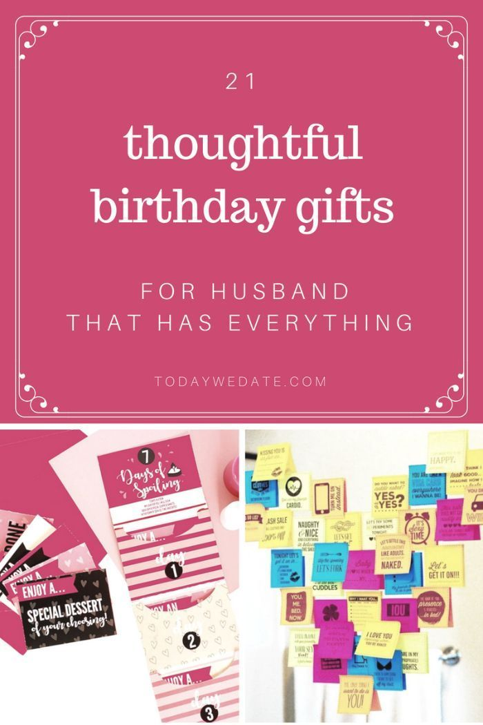 21 Thoughtful Birthday Gifts For Husband That Has Everything