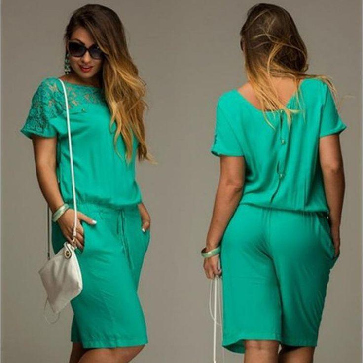 Women Jumpsuit 2016 New Summer Suit Fashion Chiffon Bodysuit Women Shorts Feminino Overalls For Women Playsuit