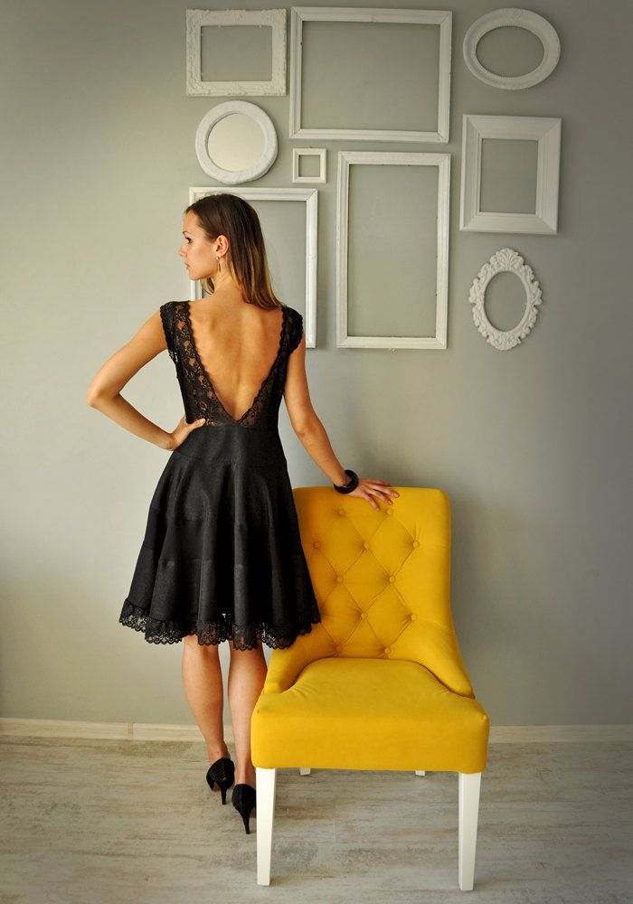 Black Dress, Cocktail Dress by HannaBoutiqueHB on Etsy