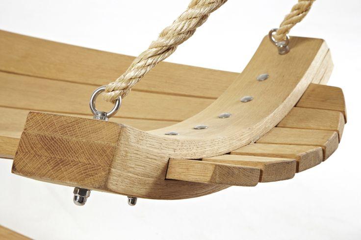 Detail of stunning oak hammock, www.hertfordshirehammocks.com