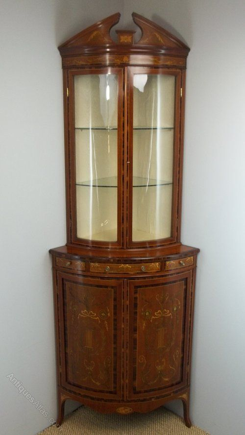 Standing Mahogany Inlaid Corner Cabinet. C.1895. - Antiques Atlas - 795 Best Amazing Furniture Images On Pinterest Antique Furniture
