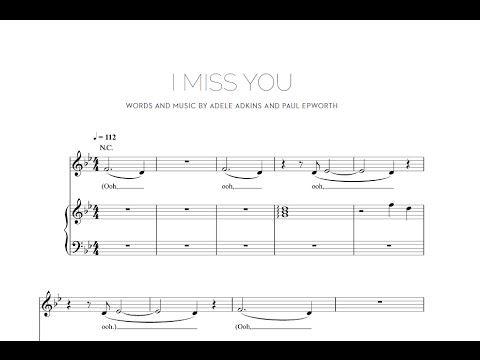 I Miss You - Adele [Sheet & Midi Download] #sheetmusic #midi #download #adele #imissyou Download link: http://goo.gl/Ib0LcV