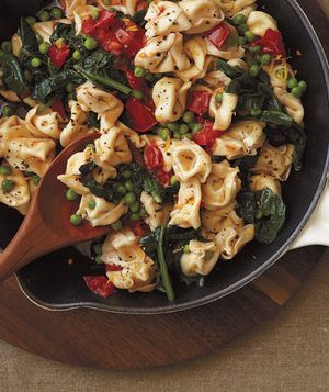 Cheese Tortellini With Spinach, Peas, and Brown Butter Recipe