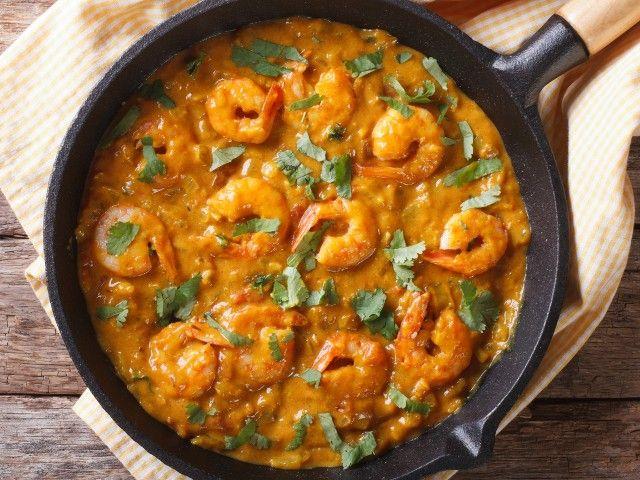 przepisy na obiad, pomysły na obiad, dania, dieta, potrawy, krewetki z curry