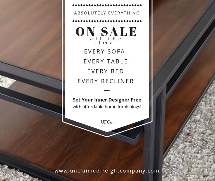 If you can sit on it, eat at it or sleep atop it, it's ON SALE! Not for a limited time but ALL THE TIME! ⭐ Every Sofa  ⭐ Every Table ⭐ Every Bed  ⭐ Every Recliner & Chair  No need to wait for your furniture either. Everything we have is in stock and ready to take home the same day!