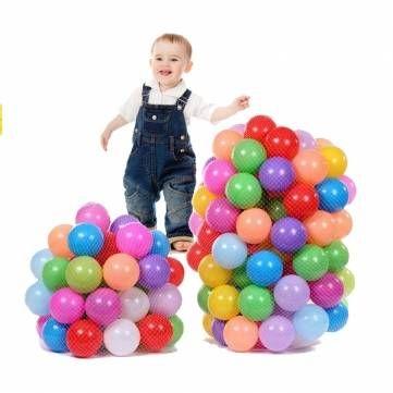 Seulement €10.71 ,acheter 100pcs enfants océan piscine à balles boules de swiming en plastique coloré fosse douce sac jouet mesh sur Banggood.comAcheter fashion Jouets de bain et de plage en ligne.