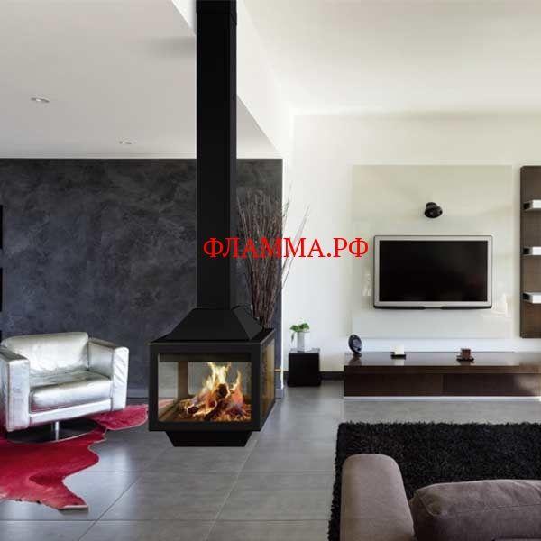 Камин Ariadna центральный, подвесной, чёрный (Traforart) TRAFORART (Испания) на печном складе ФЛАММА  отдадим по цене 255000.00 RUB    КАМИН ARIADNA, ЦЕНТРАЛЬНЫЙ, ПОДВЕСНОЙ, ЧЕРНЫЙ (TRAFORART)   Центральный подвесной камин со стеклом и двойным верхним кожухом. Цвет - черный.  ДОПОЛНИТЕЛЬНО:              Фото       Описание                  Пьедестал (ножка) с дровницей, черный цвет                  Пьедестал с боковыми декоративными стойками (2 ножки), черный цвет  …
