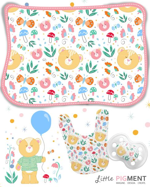 #BabyDesigns #Bears #LittlePigment #BabyApparal