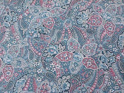 с цветочным рисунком пейсли от Питера Пэна ткани BTY цветы синий, розовый и кремовый