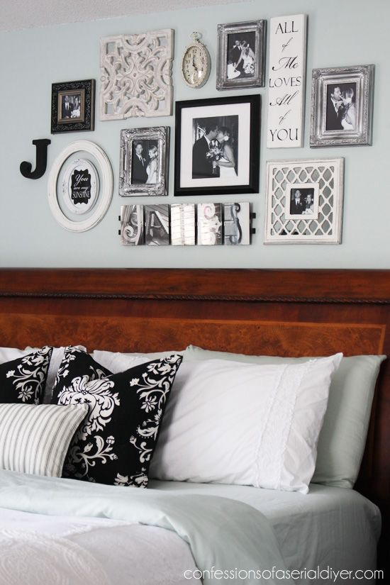 bedroom gallery wall a decorating challenge bloggers best diy rh pinterest com
