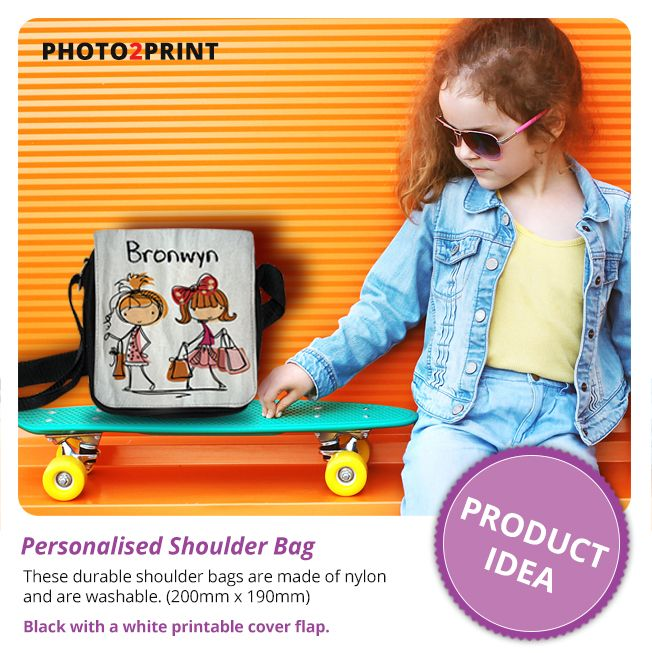 Product idea: Create a personalised shoulderbag for that special little one...  #coolbags #coolkids