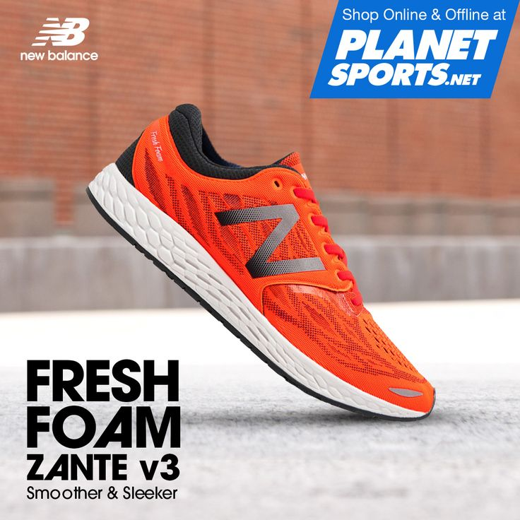 The desire to feel fast never goes away. Built for high speeds, the Fresh Foam Zante v3 men lightweight running shoe features an aggressive toe spring and a comfortable no-sew material application for a sleek fit.