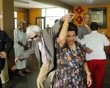 Saint Valentine's Day celebrations at the Canevaro old people's home in Lima.