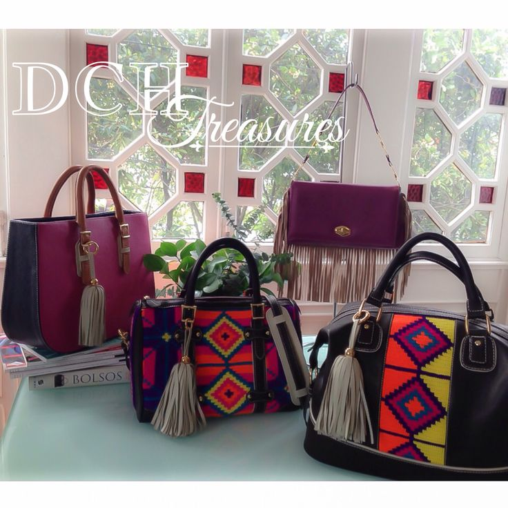 Wayuu + leather DCH Treasures 2015 www.divinacastidadhandbags.com