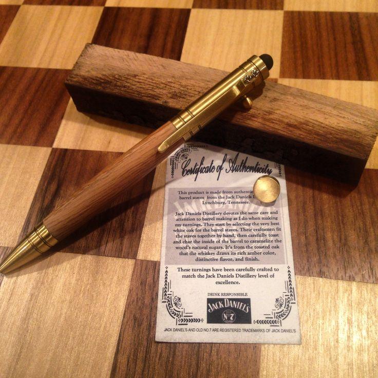 Jack Daniels bolt action pen www.anchorwoodwork.etsy.com