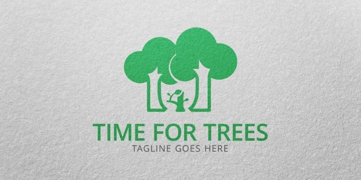 Time For Trees Logo Template for Sale: 29$ + TVA