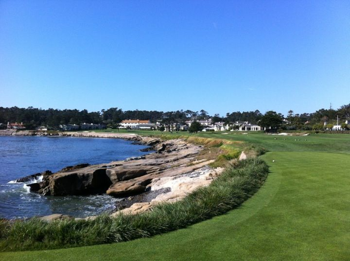 One of the most famous Golf Courses in the world, Pebble Beach Golf Links overlooks the Pacific Ocean and the rugged Central California coast.