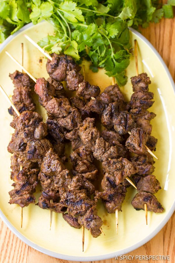"Easy ""Street Meat"" Grilled Lamb Kebabs with Chinese and Middle-East..."