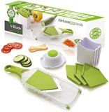 #7: Deluxe Cook Original V-Blade Mandoline Slicer  Vegetable Slicer & Julienne Tool  Hand-Held Stainless Steel French Fry Cutter  Easy to Clean Potato Chip Slicer Veggie Chopper & Fruit Slicer