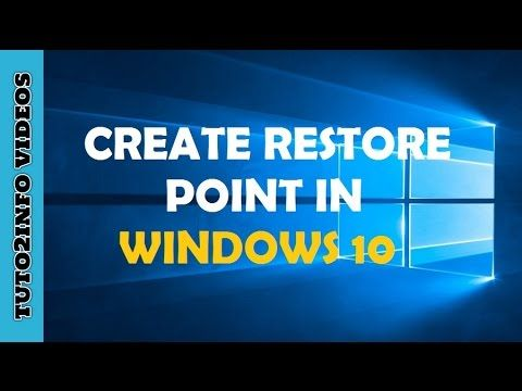 How to Create a Restore Point on Windows 10 | System Restore Windows 10