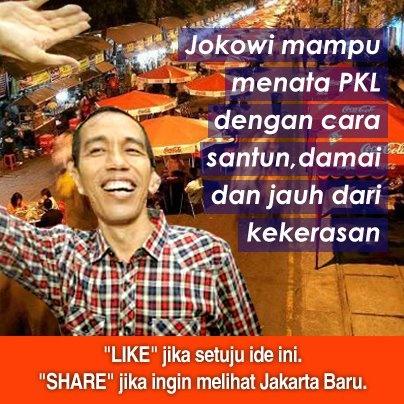 Ayo dukung Jokowi-Ahok menuju DKI-1.