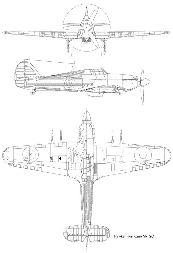 Drawing Hurricane Mk.2C