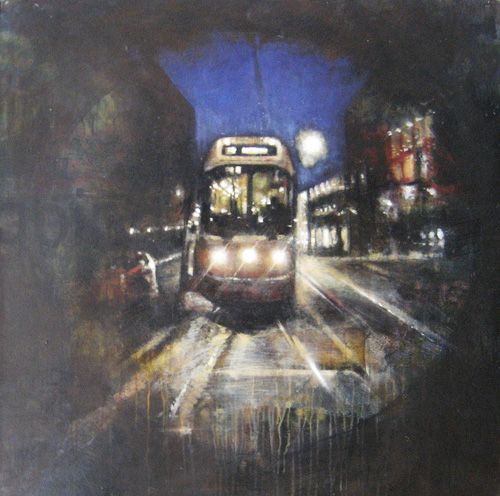 "Jacob Yerex, UniQueen 07, acrylic on panel, 36""x36"". $2150"