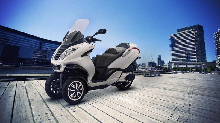 brand new, cool 3-wheel scooter from Peugeot. Expected 2013 (spring).