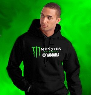 new monster energy yamaha black hoodie pullover sweatshirt. Black Bedroom Furniture Sets. Home Design Ideas