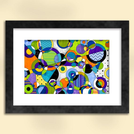Circles 5 Abstract Art Print
