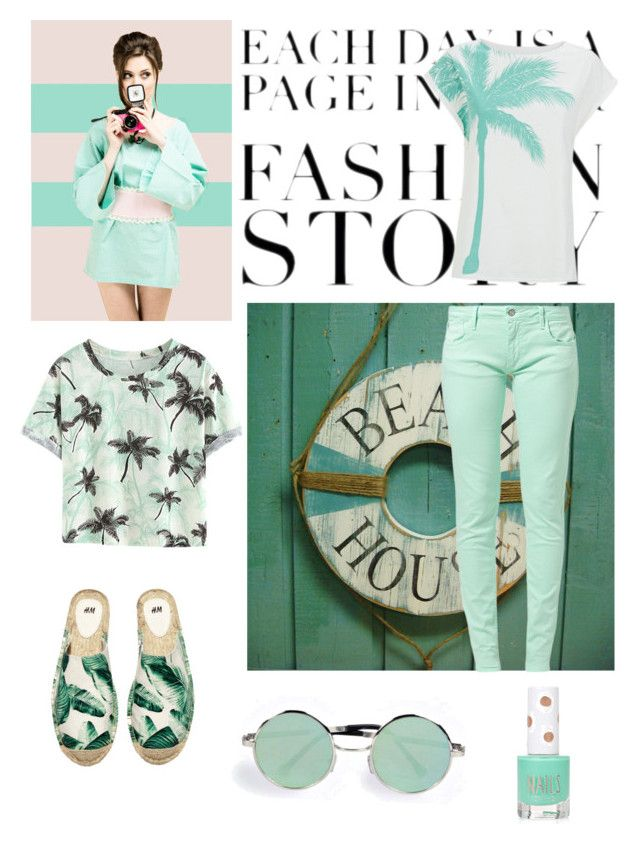 """""""Mint"""" by astridtos ❤ liked on Polyvore featuring WALL, Le Temps Des Cerises, H&M, Boohoo and Topshop"""