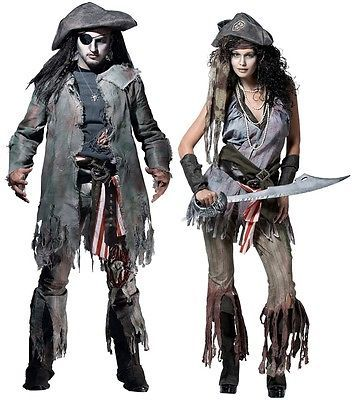 couples barnacle bill and ship wreck sally adult costume scary party halloween - Couple Halloween Costumes Scary